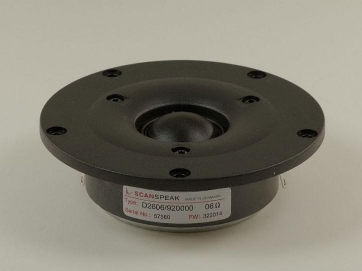 """ScanSpeak - Discovery - D2606/920000 - 1"""" (25mm) Gewebekalotte, 6 Ohm"""
